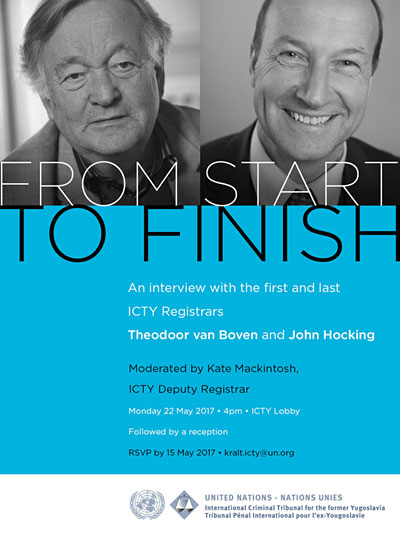 From Start to Finish: The journey of the ICTY told by its first and last Registrars