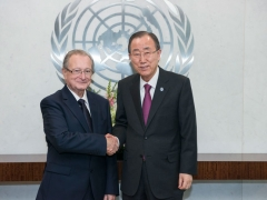 Predsednik MKSJ Carmel Agius i generalni sekretar Ujedinjenih nacija Ban Ki-moon