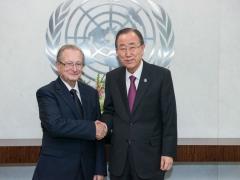 ICTY President Judge Carmel Agius and the Secretary-General of the United Nations Ban Ki-moon