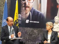 Mr. John Hocking, ICTY Registrar and Ms. Irina Bokova, Director-General of UNESCO