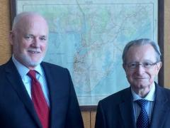 Le Président du TPIY rencontre le Président de l'Assemblée générale des Nations Unies, l'Ambassadeur Peter Thomson (Fidji)