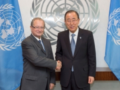 President Agius at the meeting with the UN Secretary-General Ban Ki-moon
