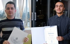 Saša Miličević, student of the Law Faculty of Banja Luka University and Hamza Ajanić, student at the 2nd Grammar School in Sarajevo