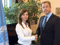 ICTY/MICT Prosecutor Serge Brammertz with Serbian Chief War Crimes Prosecutor Snežana Stanojković
