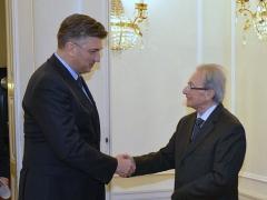 Predsjednik Agius tijekom susreta s predsjednikom Vlade Hrvatske Andrejem Plenkovićem