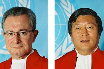 Judge Carmel Agius and Judge Liu Daqun