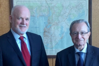 ICTY President Agius at the meeting with the President of the UNGA, Ambassador Peter Thomson (Fiji)