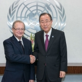 ICTY President Judge Carmel Agius and the Secretary-General of the United Nations Ban Ki-moon