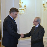 President Agius at the meeting with the Croatian Prime Minister Andrej Plenković