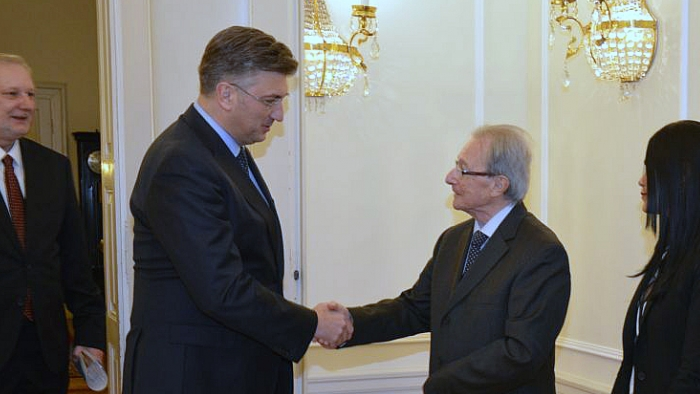 President Agius at the meeting with the Croatian Prime Minister Andrej Plenković