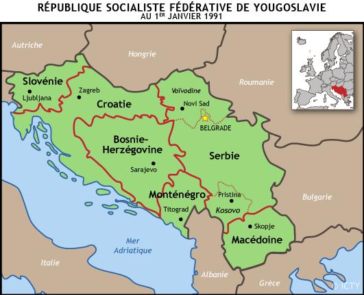 Carte Yougoslavie 1991.Qu Est Ce Que L Ex Yougoslavie Tribunal Penal