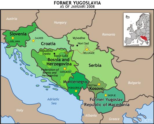 bosnia and serbia map What Is The Former Yugoslavia International Criminal Tribunal bosnia and serbia map